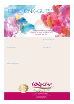 Team Oblasser Gutschein